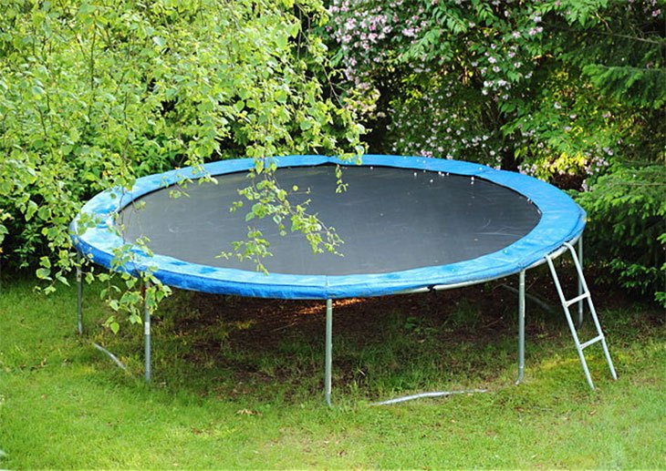 trampoline ladder and slide