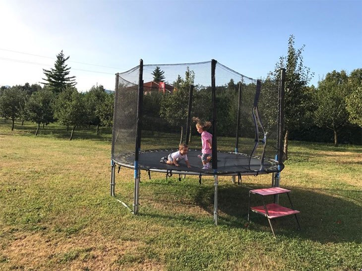 ladder trampoline cheap